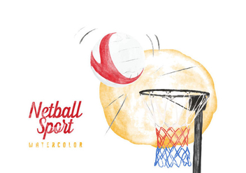 Free Netball Watercolor Vector - vector gratuit #405963