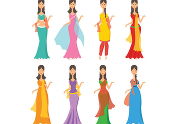 Free Indian Woman Icons Vector - Free vector #405983