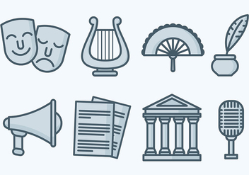 Free Teatro Icons Vector - Free vector #405993