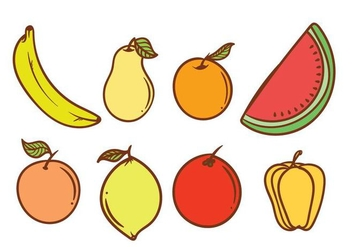 Free Fruit Fridge Magnet Vector - vector gratuit #406023