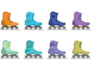 Free Roller Blade Vector - Free vector #406043