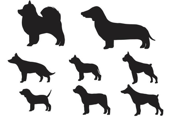 Free Silhouette of Dog Vector - vector gratuit #406093