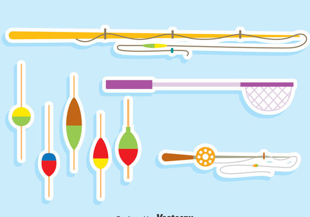 Fishing Tools Vector Set - Free vector #406183