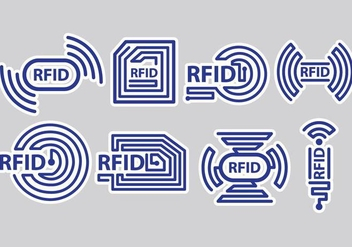 RFID Icons - Kostenloses vector #406273