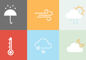 Weather Vector Icons - бесплатный vector #406293