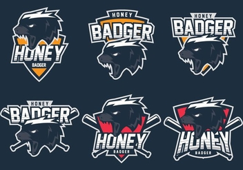Honey Badger Logo - vector gratuit #406323