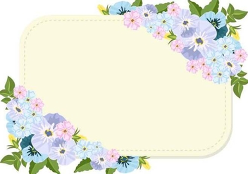 Pansy Flowers And Blank Template - vector gratuit #406393