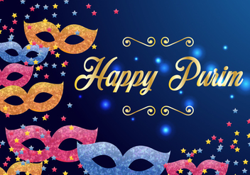 Purim Carnival Invitation Vector - vector gratuit #406463