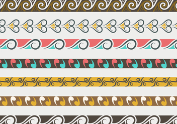 Traditional Maori Vector Borders and Patterns - vector gratuit #406473