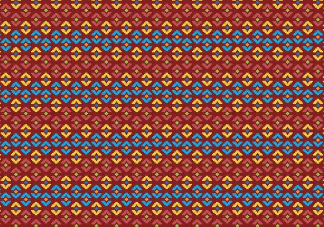 Pattern Of Indonesian Songket Illustration 2 - vector gratuit #406523