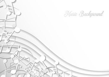 Note Of Music Background Template - vector gratuit #406543