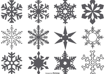 Vector Snowflake Shapes - Free vector #406643