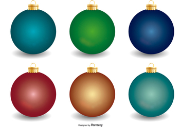 Christmas Baubles Collection - vector gratuit #406673