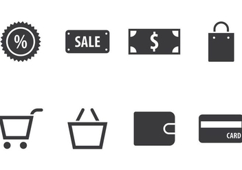 Shopping Icon Set - vector gratuit #406763