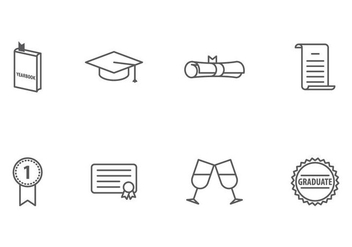 Graduation Icon - vector #406773 gratis