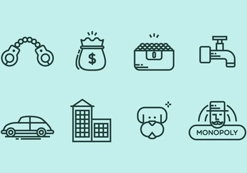 Monopoly Icon Set - Free vector #406803
