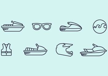 Jet Ski Icon - vector #406823 gratis