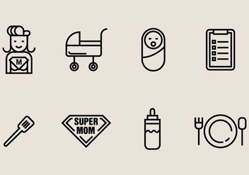 Super Mom Icon - vector gratuit #406843