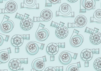 Turbocharger Pattern Vector - Free vector #406953