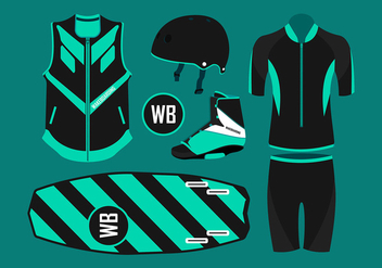 Wakeboard Equipment Free Vector - бесплатный vector #406983