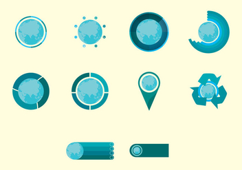 World Map Infographic Icon Set - vector #407003 gratis