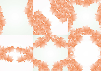 Fall Background Frame Vector - Free vector #407133