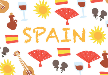 Spanish Background - vector #407213 gratis