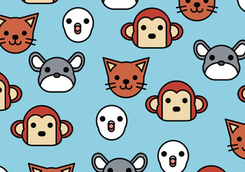 Pattern of Animals - Kostenloses vector #407263