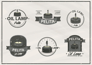 Pelita oil lamp old vintage label - Free vector #407343