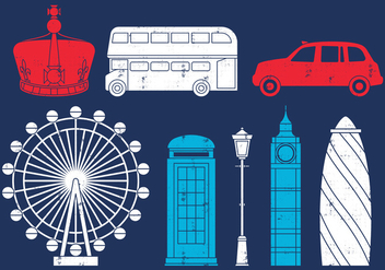British Trip Icons - vector #407503 gratis