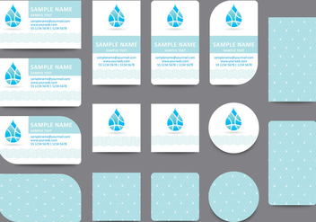Water Name Card Templates - vector gratuit #407523