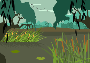 Free Swamp Illustration Vector - бесплатный vector #407553