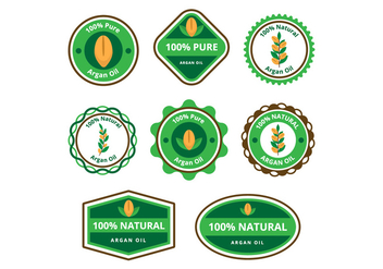 Free Argan Oil Badge - Kostenloses vector #407563