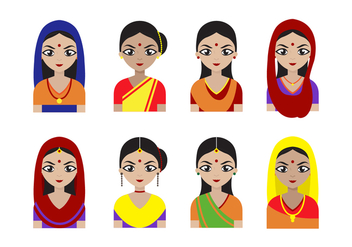 Free Indian Women Vector - Kostenloses vector #407583