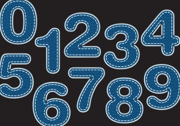 Blue Jeans Numbers - Free vector #407633