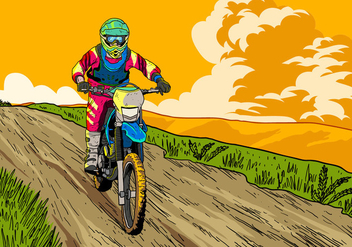 Let's Ride Dirt Bikes - Free vector #407703