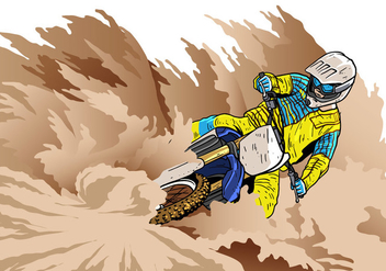 Dirt Bikes Sharp Corner Vector - Free vector #407713