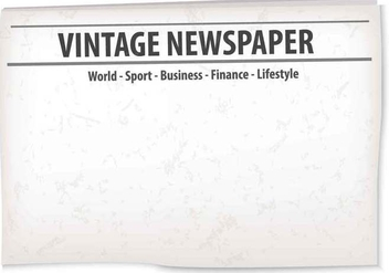 Vintage Old Newspaper Background - бесплатный vector #407763