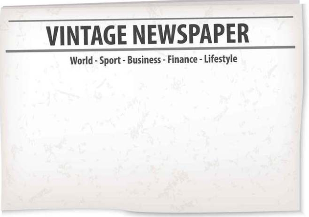 Vintage Old Newspaper Background - Free vector #407763