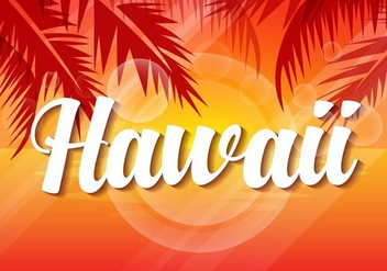 Free Hawaii Sunset Vector Illustration - Free vector #407893