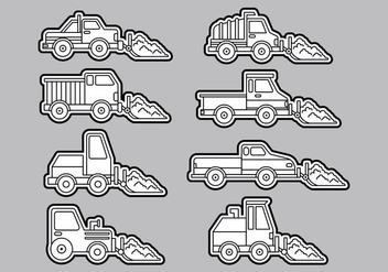 Snow Plow Icons - vector #407943 gratis