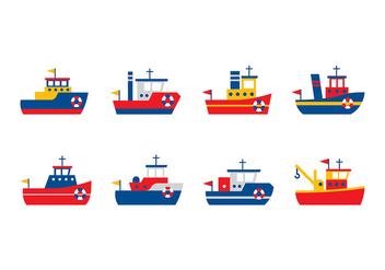 Tugboat Vector - Free vector #408053