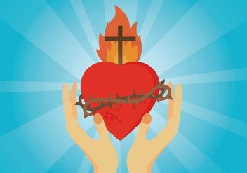 Free Sacred Heart Illustration - vector gratuit #408073