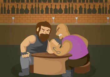 Free Arm Wrestling Illustration - vector gratuit #408083