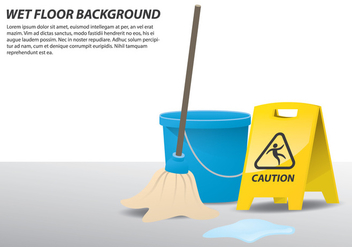 Wet Floor Illustration - Free vector #408143