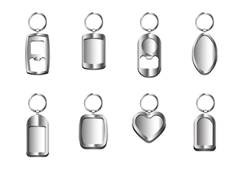 Silver Key Chain Vectors - Free vector #408153