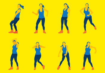 Zumba Silhouette Vector - Free vector #408173