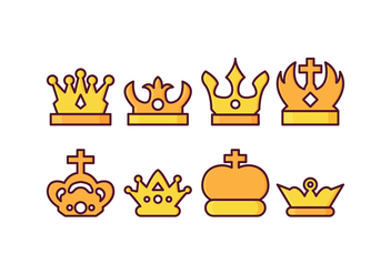 Free British Crown Vector Pack - бесплатный vector #408193