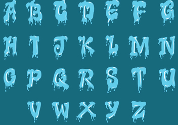 Set Of Water Alphabet Uppercase - Free vector #408213