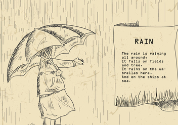 Rain Poem Illustration - бесплатный vector #408263